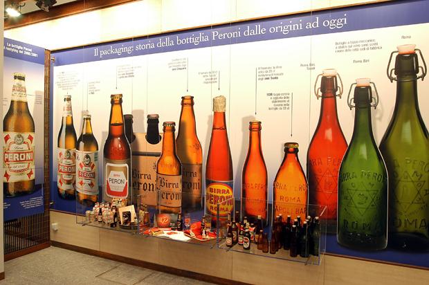 Archivio Storico Museo Birra Peroni Bottiglie Vetrina LoveITALIA