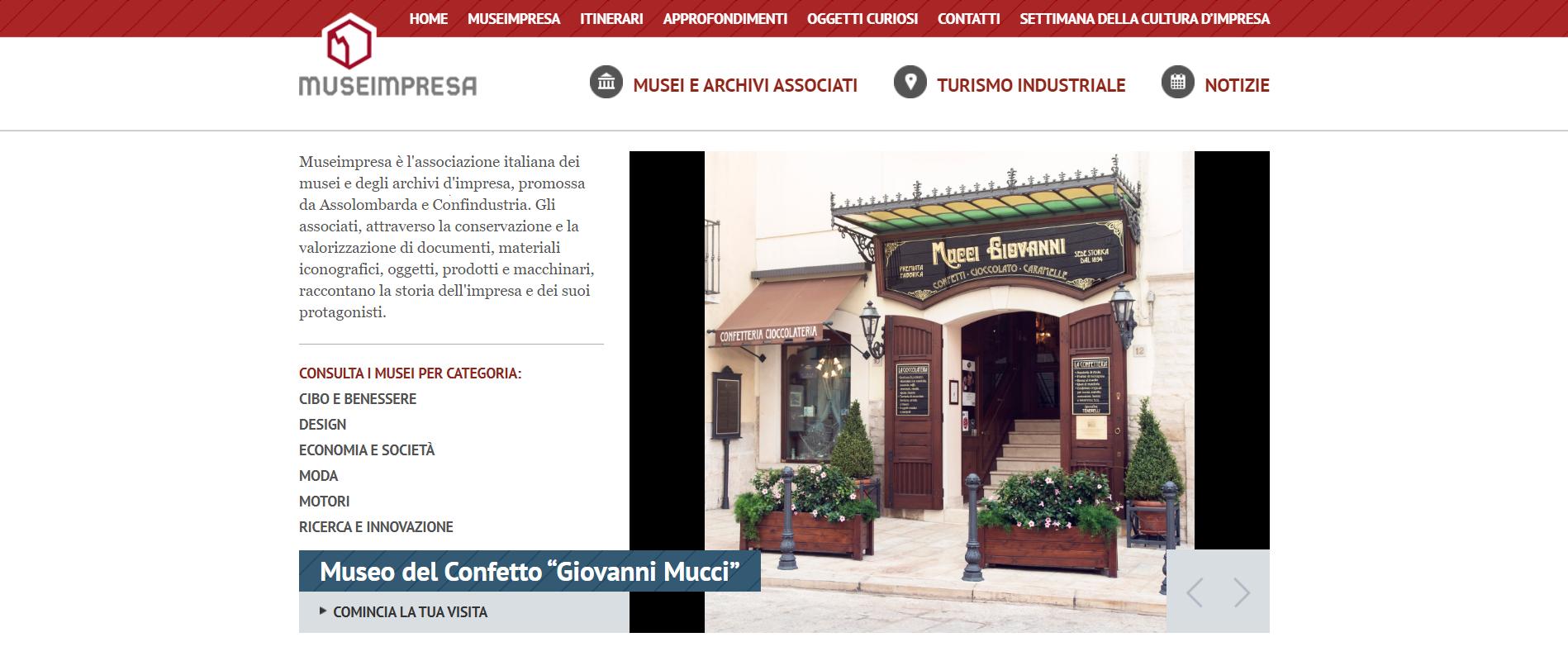 Musei impresa home page