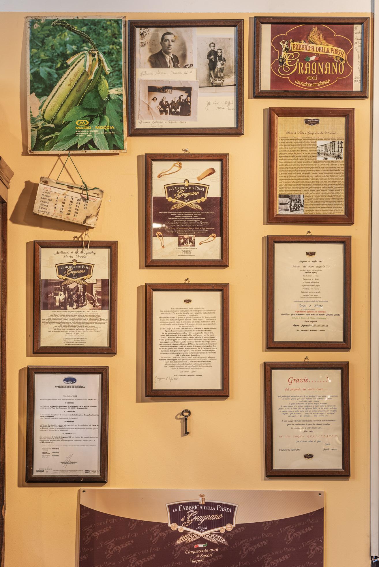 Museo Privato Fabbrica Pasta Gragnano Bacheca LoveItalia
