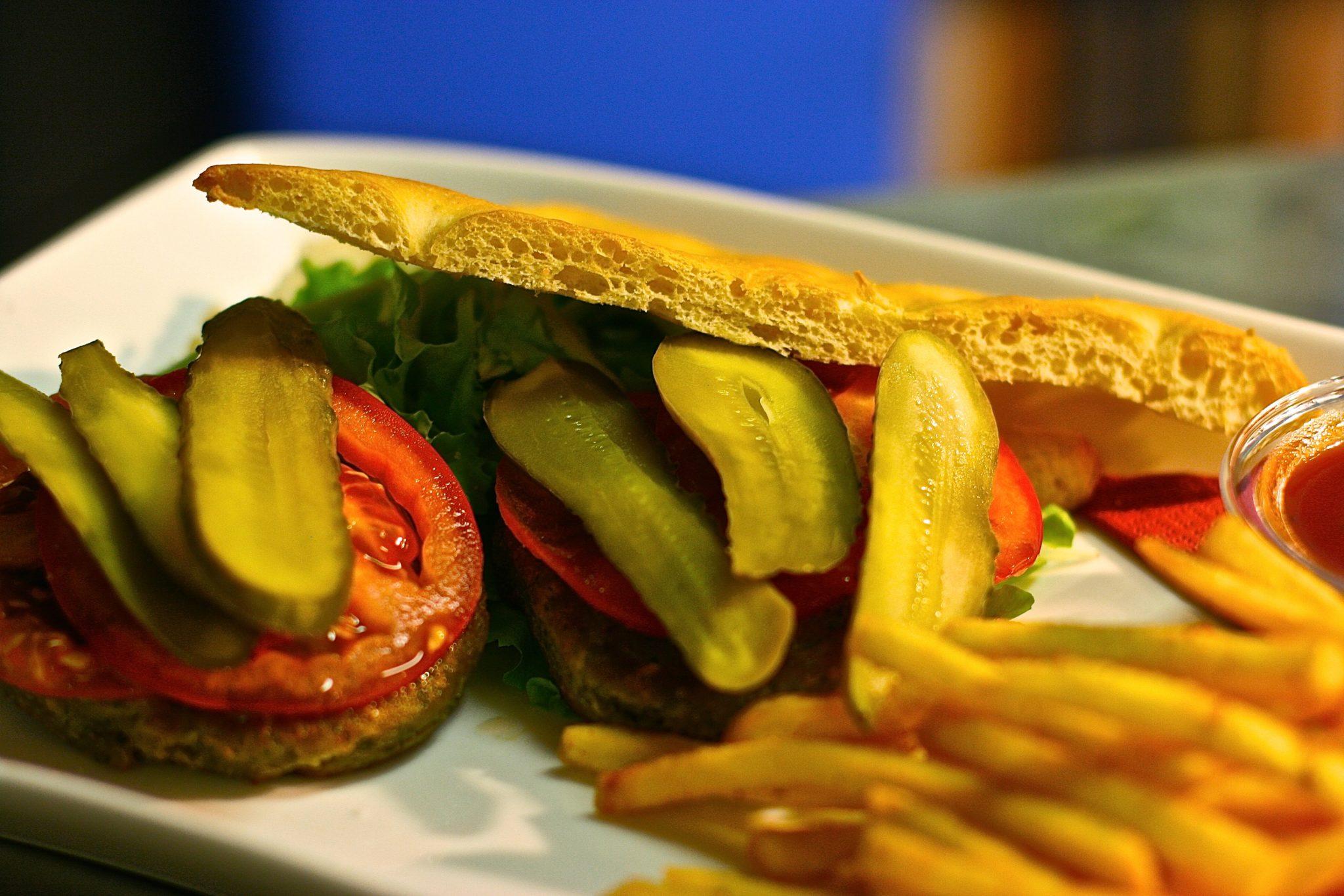 hamburger di ceci vegano