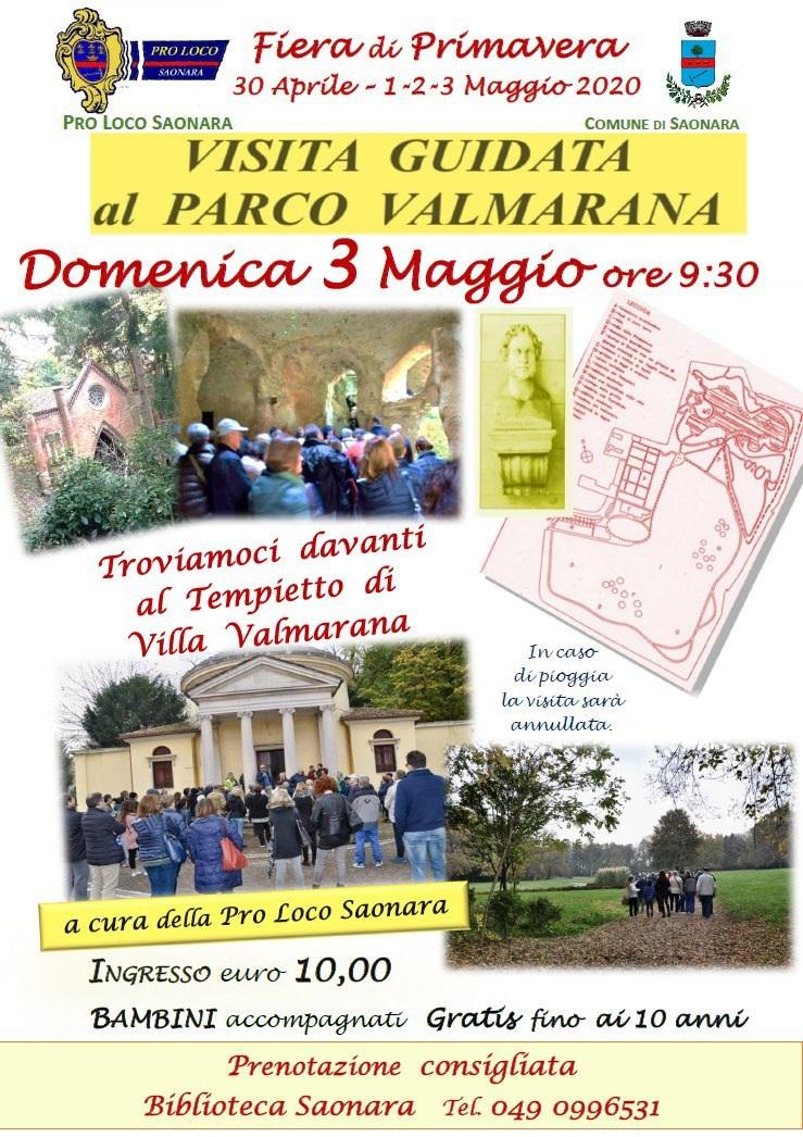 locandina visita guidata al parco valmarana pro loco saonara loveitaliafun
