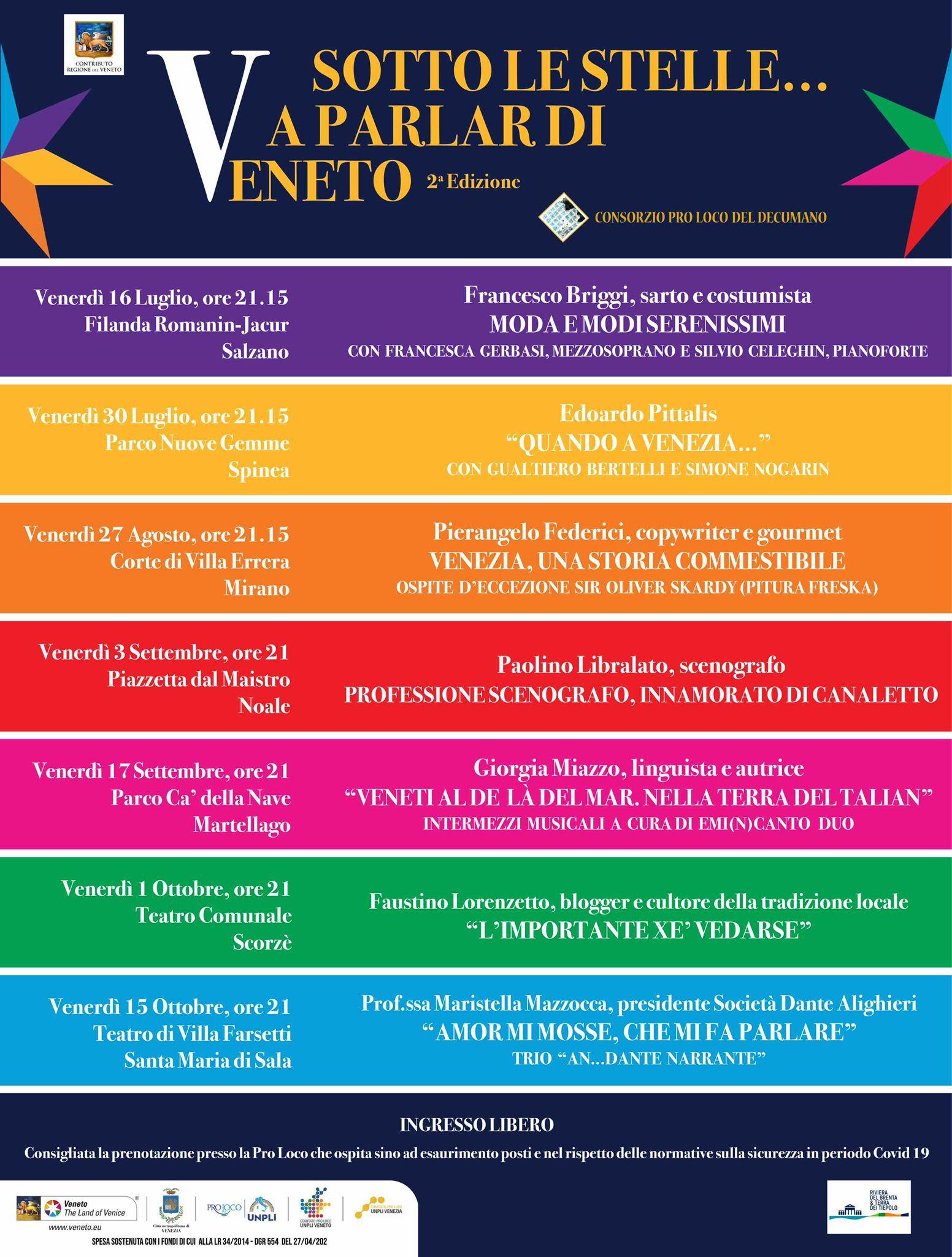 Sotto le stelle a parlar di Veneto 2021
